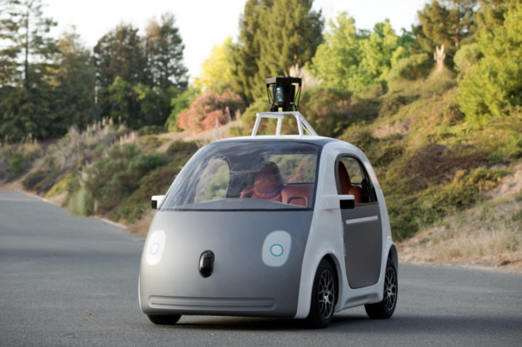 Google's prototype self-driving car leveraging Artificial Intelligence
